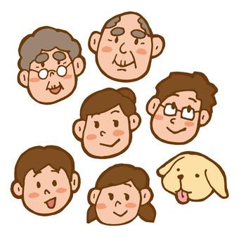 가족 미소