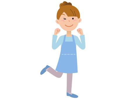 40110. Female apron, guts