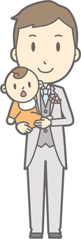 Groom Clothes - Hugs - whole body