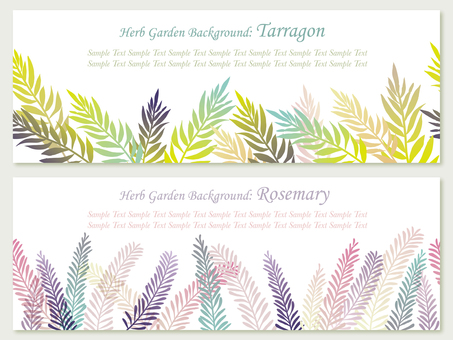 Herbal Background Rosemary and Tarragon 1