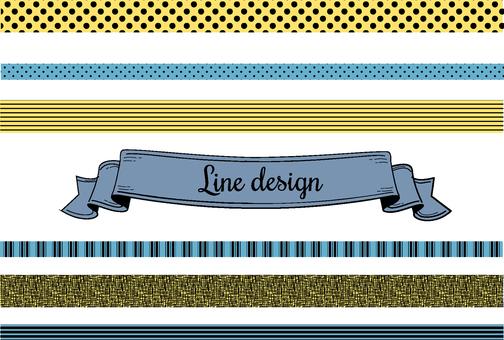 Line design 1 color