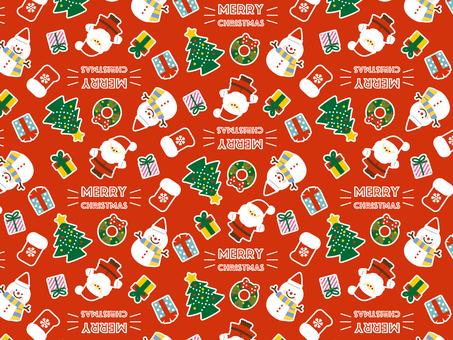 聖誕節模式紅色