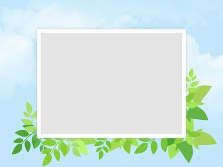 Photo frame Fresh green