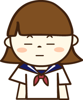 A girls student in a sailor uniform (unbearable face 1)