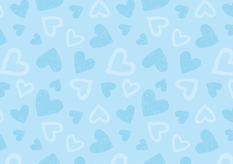 Heart pattern blue
