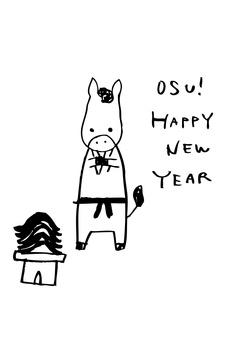 新年賀卡明信片