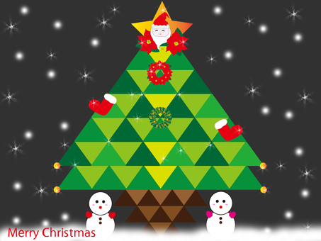 Christmas card (tree ①)