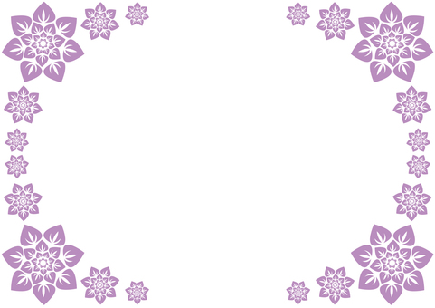 Frame - Flower Enclosure - Purple