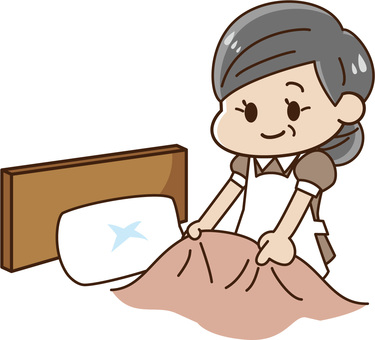 酒店 - 床上妝中年婦女