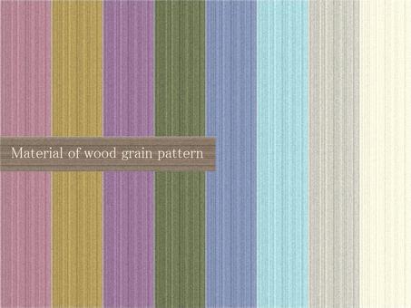Wood grain pattern material set