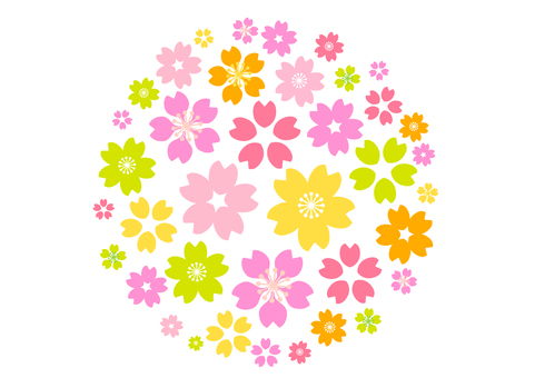 Sakura motif background