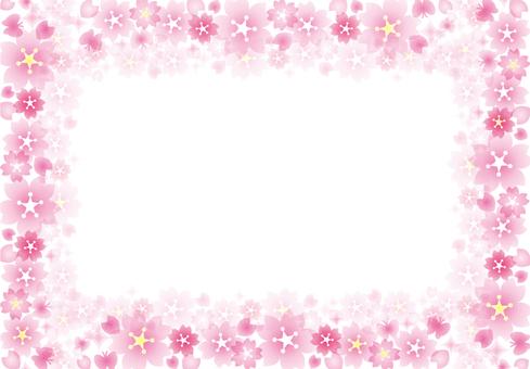 Sakura glittering frame