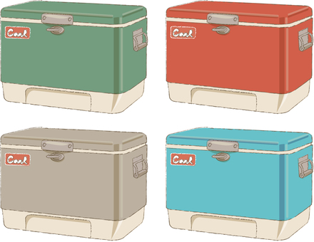 Cooler box colorful