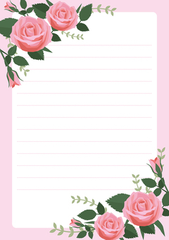 Stationery 2 of a rose (rose)