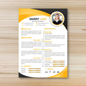 Business template resume 2