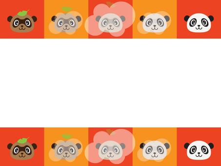 Background - Panda and raccoon 01