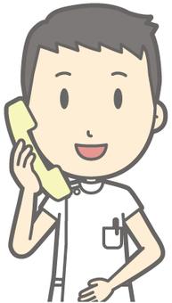 Male nurse - phone - bust