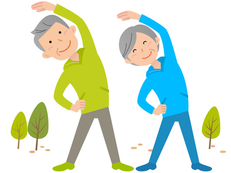 51102. Senior male and female, gymnastics, background