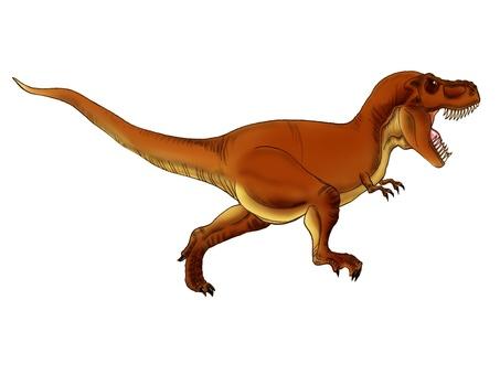 Tyrannosaurus attacks