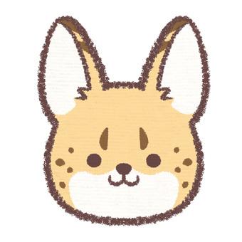 Icon Serval Cat