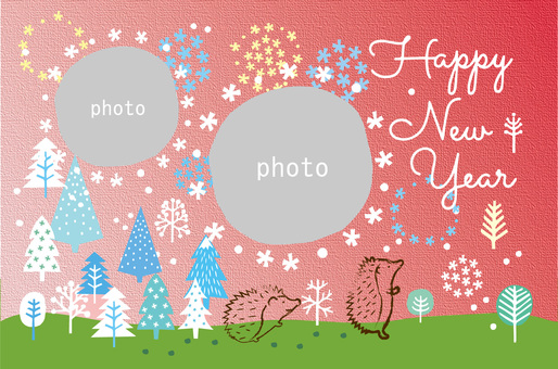 New Year's card _ child frame 37