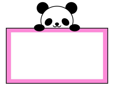 팬더 메모 프레임 동물 핑크