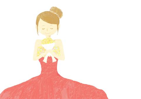 결혼식 여성