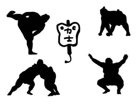The wrestler silhouette