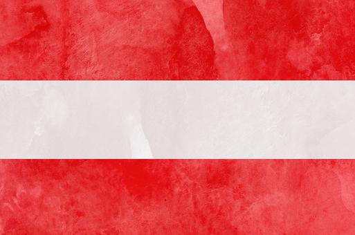 Flag watercolor Austria