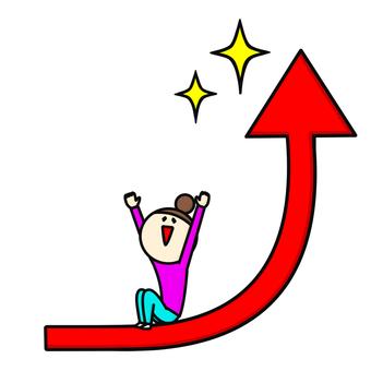 Arrow steep rise graph