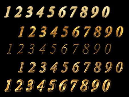 黄金の数字 少し立体的な詰め合わせ