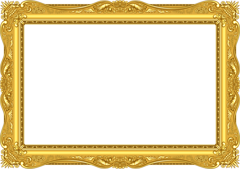 Picture frame luxury gold