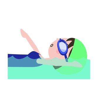 婦女誰仰泳