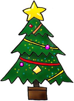Christmas tree cute illustration