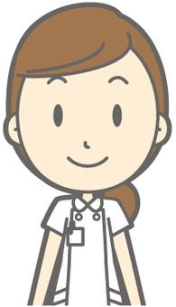 Female nurse - front - bust