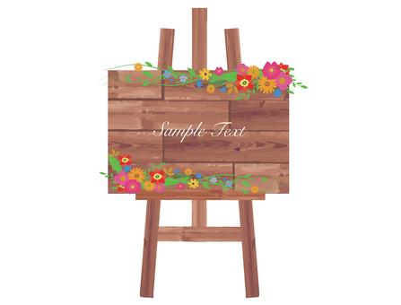 Flower material frame