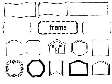 Pencil writing frame 5