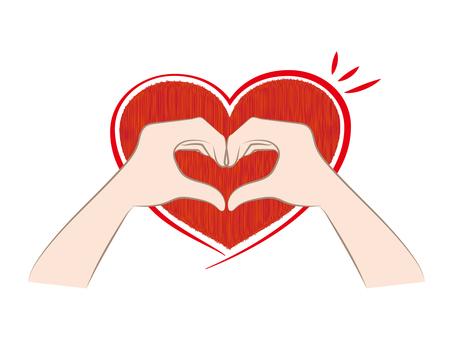 Heart type hand sign d