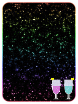 Pair drink for background (Pink × Blue)