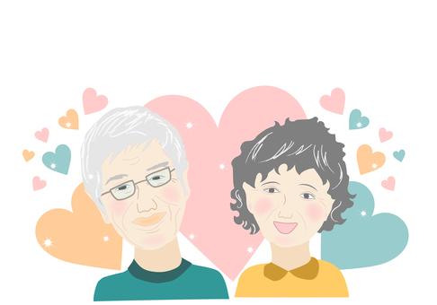 Elderly, japanese, senior, elderly, smile, couple