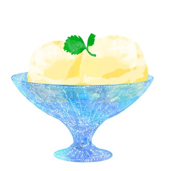Ice cream (vanilla) (Utsuwa)