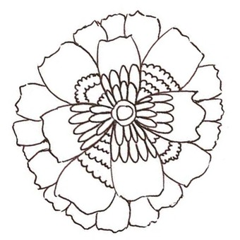 Flower coloring book 3