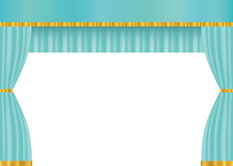 Curtain drape curtain light blue stage stage background