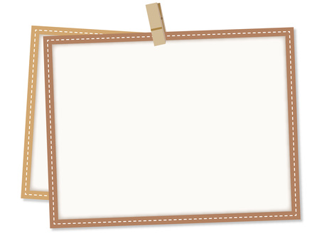 5622. Frame, clip, brown