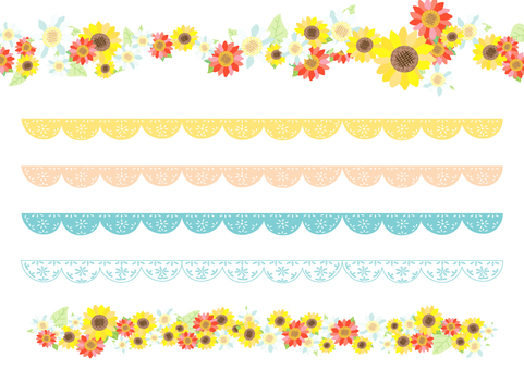 Flower and lace line material