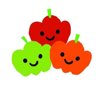 3 colors paprika