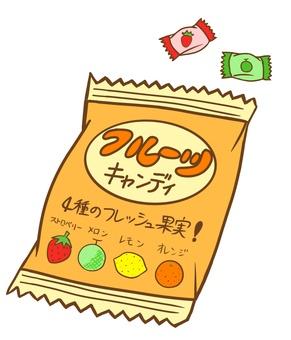 봉지 과일 사탕