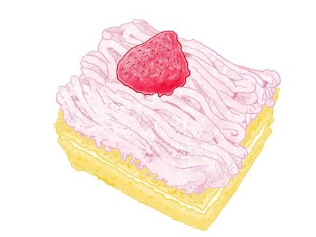 딸기 몽블랑 (컵 없음)