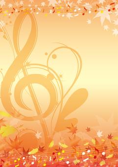 Graceful autumn leaves season background frame