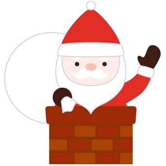Santa and a chimney